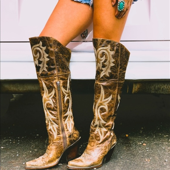 Jilted Over The Knee Cowboy Boots